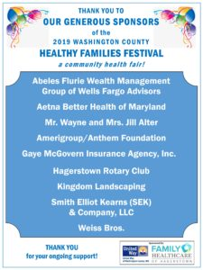 2019 Healthy Families Festival Sponsors